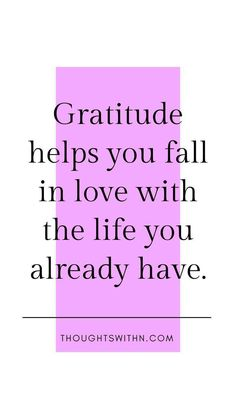 Today I Am Grateful For, A Gratitude Journal - Thoughts with N