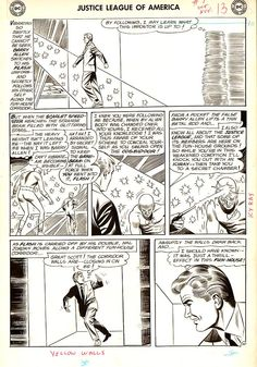 Original art bu Mike Sekowsky for Justice League of America #7, Oct-Nov 1961.