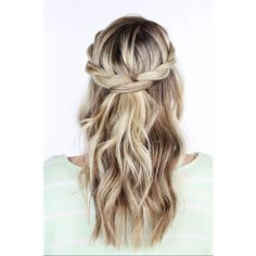 Half-Up Hairstyles for Every Bride ❤ liked on Polyvore featuring accessories, hair accessories and hair