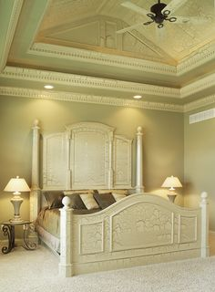 cool ceiling treatment matches bed - plan 051S-0053 - houseplansandmore.com