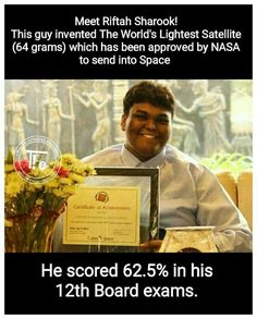 Everything matters rather than Academic Grades science physics astronomy nasa isro jpl math southindian brain inventor innovative True Interesting Facts, Some Amazing Facts, Interesting Facts About World, Intresting Facts, Unbelievable Facts, Wow Facts, Real Facts, Wtf Fun Facts, True Facts