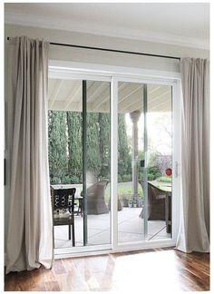 Sliding Door Window Treatments, Sliding Door Blinds, Sliding Glass Door Curtains, Door Design, Patio Door Curtains, Door Blinds, Sliding Glass Door Window, Door Coverings, Door Glass Design
