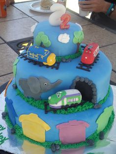 Chuggington Cake For My Sons Nd Birthday  My Creations - Chuggington birthday cake