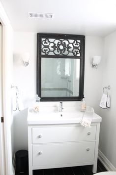 Bathroom Renovation :: How To Install An Ikea Hemnes Sink Cabinet | HEMNES