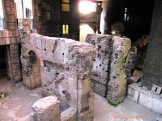 ROMA-Crypta Balbi-A historic block of Ancient Rome that sits below the modern level stemming from about 13 BC.