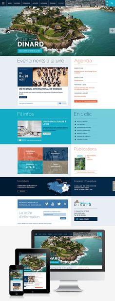 Refonte du site Internet de la ville de Dinard (35) :#Web #Webdesign #Responsive #Mairie #Ville #Public : www.ville-dinard.fr by @creasit