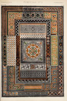 Possible layout-Decorative Arts: The grammar of ornament: [Pompeian ornament. Plates 23, 24, 25]