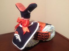 Diaper Tricycle/ Denver Broncos by KCDiaperCycles on Etsy
