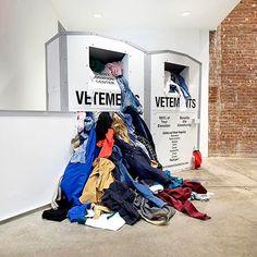 "DOVER STREET MARKET NEW YORK, ""Visual Merchandising Made Easy"", for Vetements, pinned by Ton van der Veer"