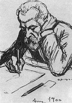 Портрет Антонио Гауди работы Рикардо Описсо. 1900 год