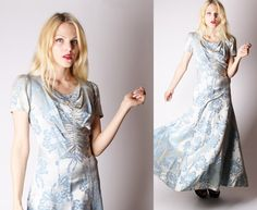 30s dress / 1930s Vintage Dress /  Long 30s Gown / by aiseirigh, $288.00