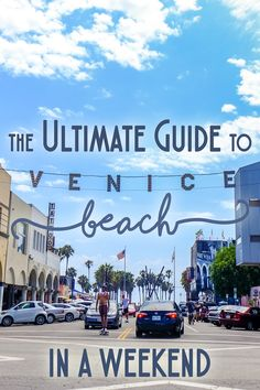 "Originally founded in 1905 as a beachfront resort, Venice Beach has since blossomed into a hip, cultural mecca just a short drive from Central LA. Venice is the ultimate place to chill with the ""in-crowd,"" whether you're sunbathing, shopping, or sightseeing- and you'll find everything from an amusement pier, miniature steam railroad, boutiques, coffee bars, art galleries and more. Here is my guide to Venice Beach in a weekend!"