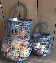 FREE SHIPPING in the US! These are a great gift idea for a housewarming or wedding gift or as a hostess gift for the next dinner party. Includes both a onion basket and a garlic basket. The onion basket is great basket for storing your onions. It looks nice and doubles as a decoration. This onion basket will hold at least 3lbs of onions. Storing your onions in an onion basket allows air to circulate around the onions keeping them fresh for a long time. This basket was woven by me and stands…