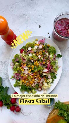 Cucumber Salad, Cobb Salad, Spanish Food, Spanish Recipes, Indian Food Recipes, Vegan Recipes, Fiesta Salad, Summer Picnic, Summer Recipes