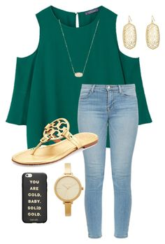 """School"" by abbyharshman8 on Polyvore featuring MANGO, J Brand, Tory Burch, Kendra Scott, Michael Kors and ban.do"