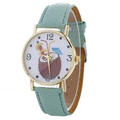 Women Chimes Pattern Quartz Watch Leather Strap Belt Table Watch Feature: brand new and high quality . Geek Watches, Cute Watches, Pina Colada, Fashion 2017, Quartz Watch, Mint Green, Bracelet Watch, Jewelry Box, Tropical