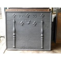 Fireback Pillars with Decoration for sale at http://www.firebacks.net