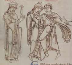 1150 - Terence's Comedies, in Latin, with Romanesque drawings. 76v