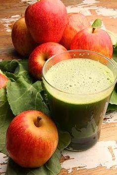 Suco de maçã, couve e carqueja protege e cura o fígado