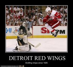 Bahahaha!!!! I may not like the Redwings, but this is funny!!!!