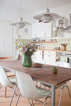 German kitchen with great old tile