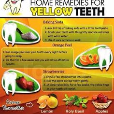 ✨10 Home Remedies for Yellow Teeth✨#tipit