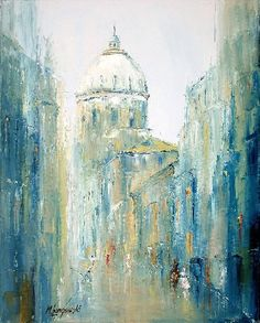 Painting Streets of Warsaw - Artist Marek Langowski