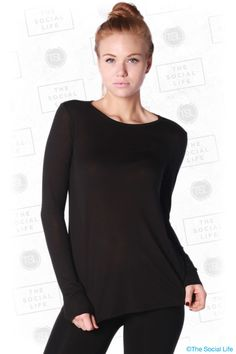 TSL Private Label - Fine Jersey Long Sleeve Tee  Our slinky soft and lightweight long sleeve tee is another essential for your wardrobe. Elegant and effortlessly chic. Drapes beautifully. Made in USA. Available for custom dye.