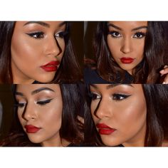 Makeup of the Day: CLASSIC RED! by LaurenArcana. Browse our real-girl gallery #TheBeautyBoard on Sephora.com and upload your own look for the chance to be featured here! #Sephora #MOTD