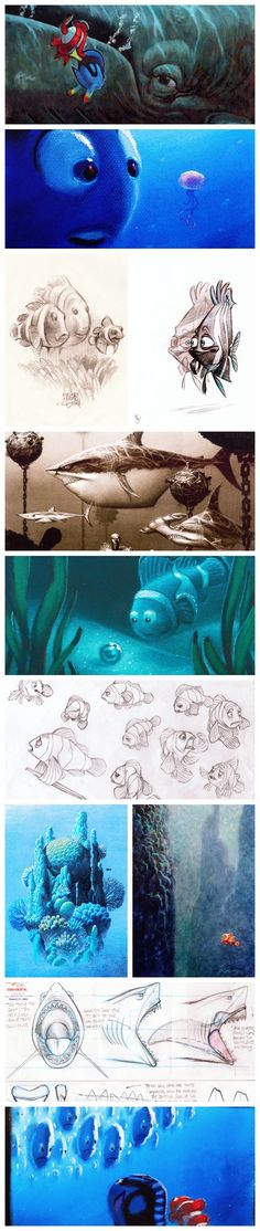 Concept art for Finding Nemo (adapted from Oh My Disney)