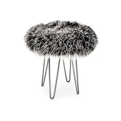 Tibetan Lambswool Stool Black/White Ottomans ($799) ❤ liked on Polyvore featuring home, furniture, ottomans, beige ottoman, black ottoman, black and white furniture, black furniture and black and white ottoman