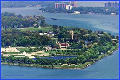 Belle Isle sits strategically on the Detroit River...a stone's throw to both Canada and the United States.