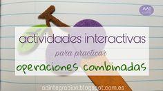 Apoyo a la Integración: Actividades interactivas para practicar operacione...