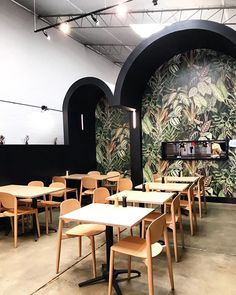 Rebel Walls (@rebelwalls) • Foton och videoklipp på Instagram Wallpaper Decor, Pattern Wallpaper, Cafe Restaurant, Restaurant Design, Home Office, Jungle Bathroom, Monkey Wallpaper, Scandinavian Wallpaper, Inspirational Wallpapers