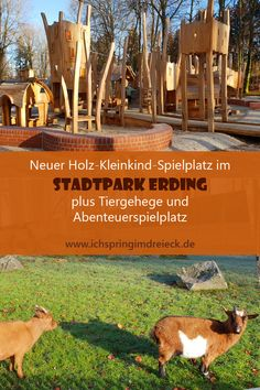 Neuer Sportbereich im Stadtpark Erding eröffnet Juhu, the new playground in the Erding city park is ready. And the wait was really worth it! Lots of wood, lots of individuality Camping With Kids, Family Camping, Family Travel, Water Playground, Natural Playground, Camping Games, Camping Checklist, Kindergarten Portfolio, Vintage Travel Trailers