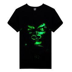 Mens 3D Printed Casual T-Shirt Creative Skull and Venomous Snake Short Sleeve Summer Stylish Tees