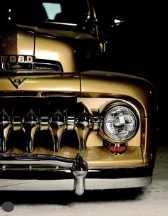 "1951 Ford pickup truck named ""Gold Digger"" 1951 Ford Truck, Ford Pickup Trucks, Gm Trucks, Cool Trucks, Chevy Trucks, Diesel Trucks, Dodge, Car Cost, Classic Ford Trucks"