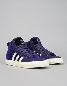 sale retailer 5f73d d1624 Adidas Matchcourt High RX Skate Shoes - Dark Purple Cream White Gold