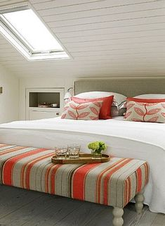 small attic bedroom low sloping ceilings in white - Google Search