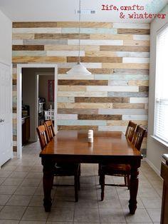Plank wall.