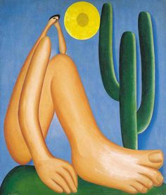 Abapuru, Tarsila do Amaral - It is considered the most important painting of a Brazilian painter.