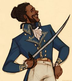 EVERYONE GIVE IT UP FOR AMERICA'S FAVORITE FIGHTING FRENCHMAN... LAFAYETTE!