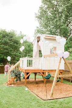 Stunning Backyard Design Ideas That Suitable For Kids Kids Outdoor Play, Outdoor Play Spaces, Backyard For Kids, Outdoor Fun, Outdoor Playhouse For Kids, Kids Swingset Ideas, Kids Playset Outdoor, Playset Diy, Playhouse With Slide