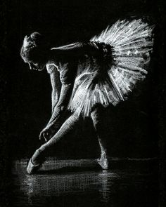 Ballerina drawing - white pencil on black paper Ballerina Art, Ballet Art, Black Paper Drawing, Pastel Drawing, Black White Art, Black And White Drawing, Art Scratchboard, Drawing Faces, Art Drawings