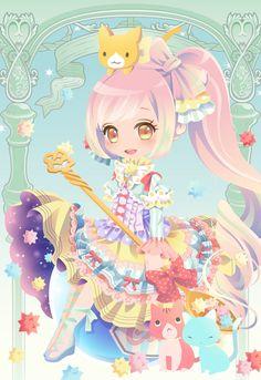 ファンタジアティードリーム|@games -アットゲームズ- Anime Chibi, Miku Chibi, Kawaii Anime, Chibi Girl, Kawaii Girl, Anime Art, Fashion Games For Girls, Manga Tutorial, Accel World