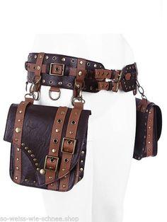 Restyle Steampunk Kunst-Leder Gürtel Tasche LARP Pirate Pocket Punk Belt Gothic in Kleidung & Accessoires, Damen-Accessoires, Gürtel | eBay