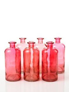 i love pink vintage bottles---♥yogagurl Antique Bottles, Vintage Bottles, Bottles And Jars, Glass Bottles, Perfume Bottles, Pretty In Pink, Pink Love, Red And Pink, Coral Pink