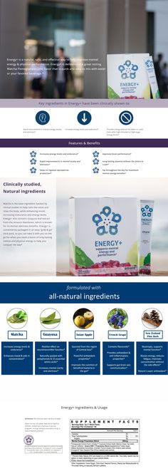 """Energy+ @AmareGlobal  #Matcha is the base ingredient backed by clinical studies to help calm the #mind & #relax the body, while enhancing mood, increasing #endurance & #energy levels. Energy+ also contains Guayusa leaf extract from the Amazon Rainforest, which is known for its #mental alertness benefits. Energy+ is conveniently packaged in an easy """"grab & go"""" stick pack, so you can take it on the go for when you need a boost of long-lasting mental & #physical #energy to help you conquer the…"""
