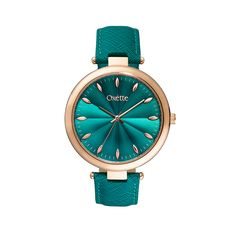 Watch OXETTE, with metallic index and a fabulous shiny embossed dial, it will definitely become your favorite choice. Available in different dial colors. Beautiful Watches, Michael Kors Watch, Teal, Womens Fashion, Emerald, Metallic, Accessories, Rose, Colors