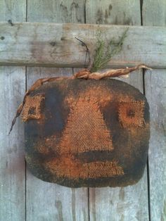 Primitive Large Pumpkin Jack O Lantern Door Charmer fall door doll country BLACK #NaivePrimitive